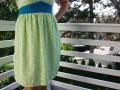 Rockteil des selbstgenähten Tunikakleides für den Sommer.  JanaKnöpfchen - Nähen für Jungs