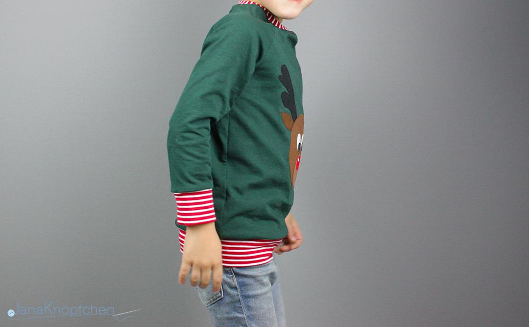 Weihnachtsshirt genäht für Jungs.  JanaKnöpfchen - Nähen für Jungs