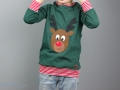 Selbstgenähtes Weihnachtsshirt mit Applikation Rentier Rudolf. JanaKnöpfchen - Nähen für Jungs