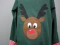 Selbstgenaehtes Weihnachtsshirt Rentier für Jungs.  JanaKnöpfchen - Nähen für Jungs