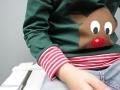 Weihnachtsshirt mit Rudolf als Applikation für Jungs.  JanaKnöpfchen - Nähen für Jungs