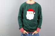 Weihnachtsshirt mit Weihnachtsmannapplikation für Jungs. JanaKnöpfchen - Nähen für Jungs