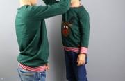 Selbstgenähte Weihnachtsshirts für Jungs.  JanaKnöpfchen - Nähen für Jungs