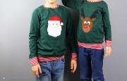 Selbstgenähte Weihnachtsshirt für Jungs mit Weihnachtsmann und Rentierapplikation.  JanaKnöpfchen - Nähen für Jungs