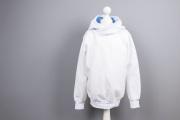 Weißen Hoodie für den Großen genäht. JanaKnöpfchen - Nähen für Jungs