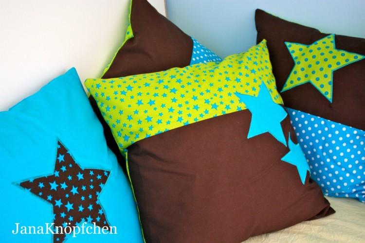Kissen genäht für die Kuschelecke im Kinderzimmer. JanaKnöpfchen - Nähen für Jungs
