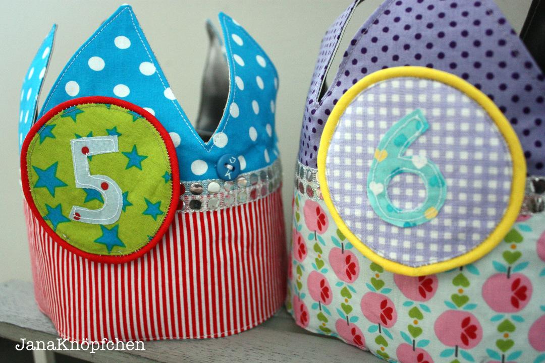 Geburtstagskronen für Jungen und Mädchen mit wechselnden Zahlen. JanaKnöpfchen - Nähblog. Nähen für jungs