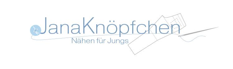 Logo vom Nähblog JanaKnöpfchen - Nähen für Jungs