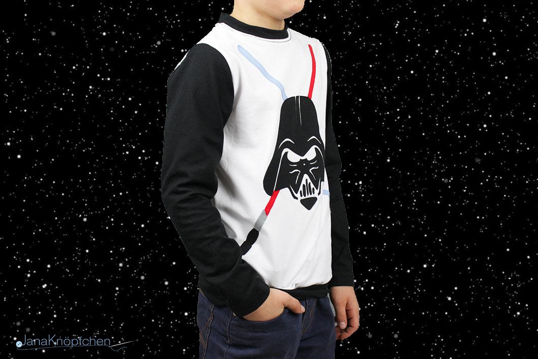 Selbstgenähten Darth Vader Shirt für Jungs. JanaKnöpfchen - Nähen für Jungs