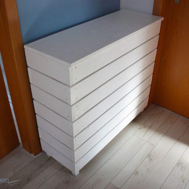 DIY selbstgebauten Wäschekorb aus Holz. JanaKnöpfchen - Nähen für Jungs