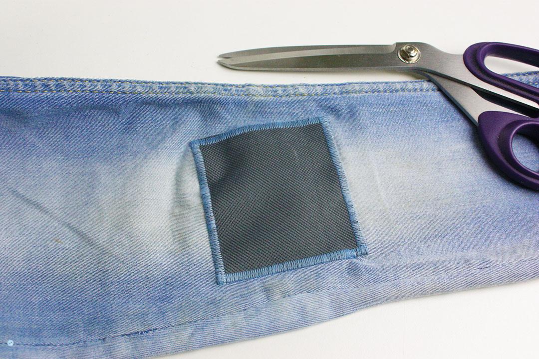 Tutorial wie flicke ich eine Jeans? Flicken auf der Jeans ist festgenäht. JanaKnöpfchen - Nähen für Jungs