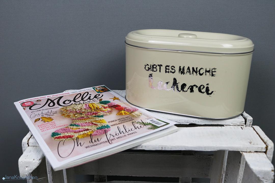 Keksdose mit Schrift verzieren. DIY von Molly Makes. JanaKnöpfchen - Nähen für Jungs
