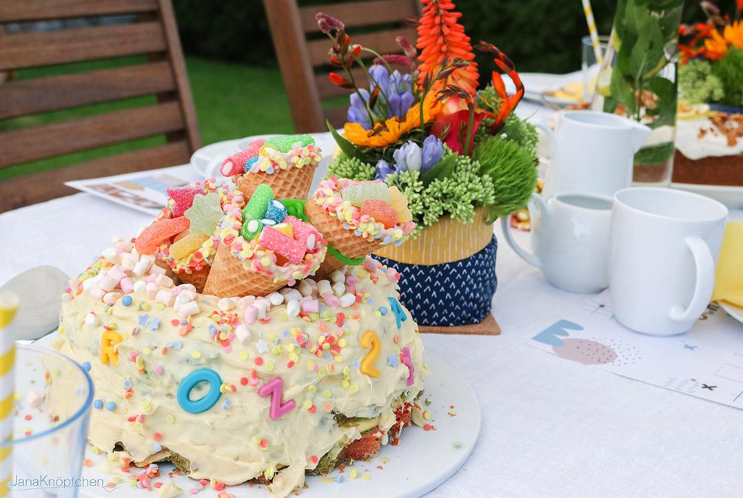 Kuchen zur Einschulung backen für einen Jungen. JanaKnöpfchen - Nähen für Jungs