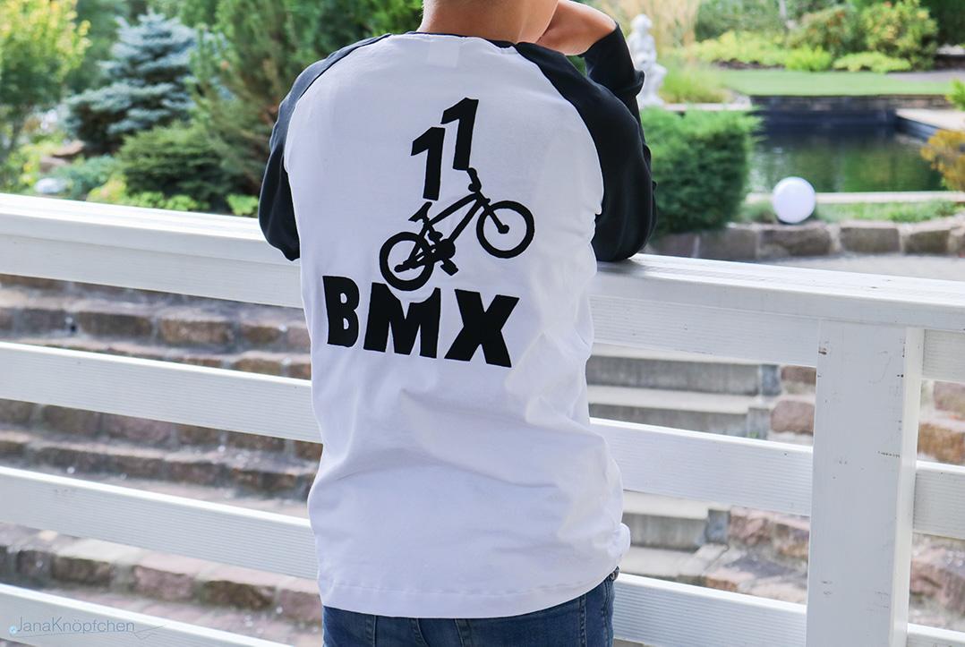 BMX-Geburtstagsshirt genäht für 11 jährigen Jungen. JanaKnöpfchen - Nähen für Jungs
