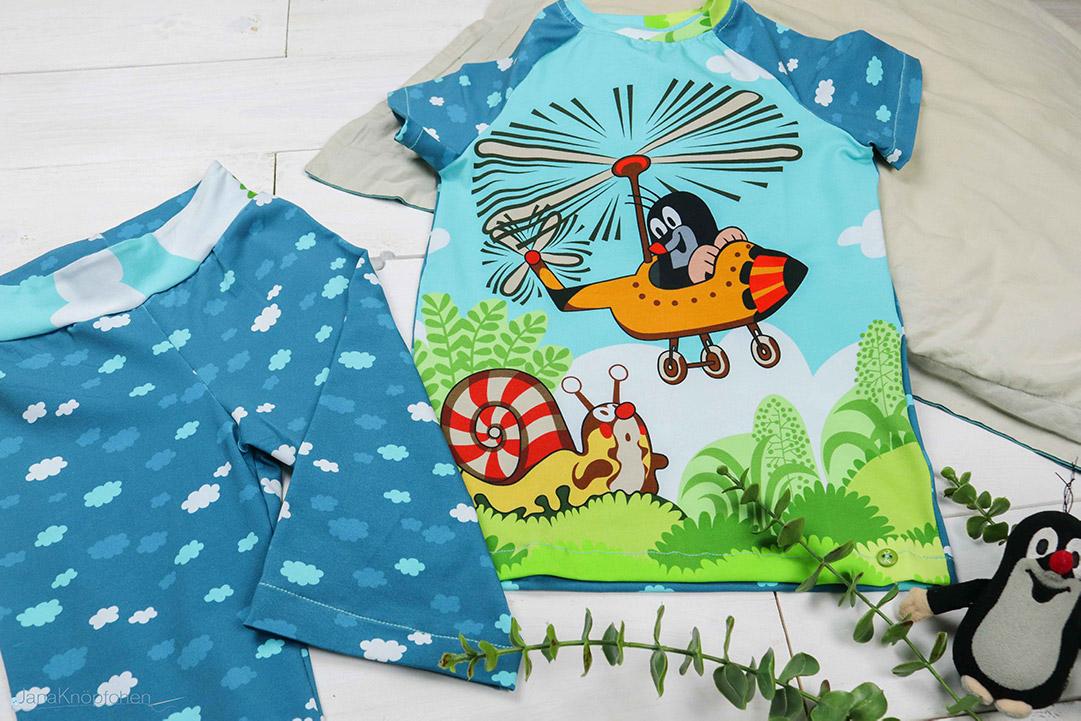 Blogpost Maulwurf-Schlafanzug nähen. JanaKnöpfchen - Nähen für Jungs