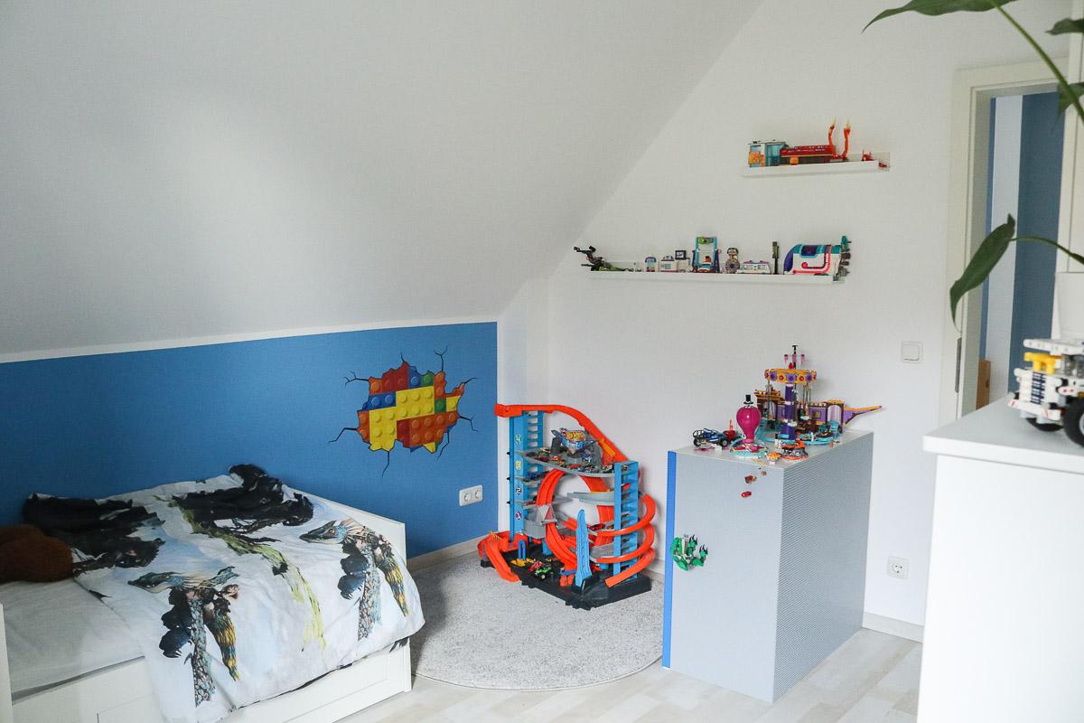 Lego-Spielecke im Lego-Zimmer. JanaKnöpfchen - Nähen für Jungs