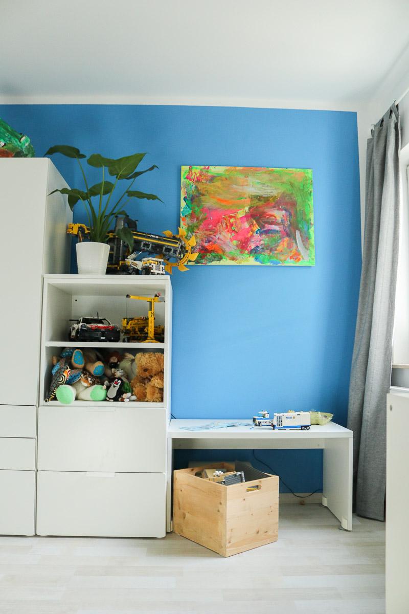 Selbstgemaltes Gemälde im neuen Kinderzimmer. JanaKnöpfchen - Nähen für Jungs