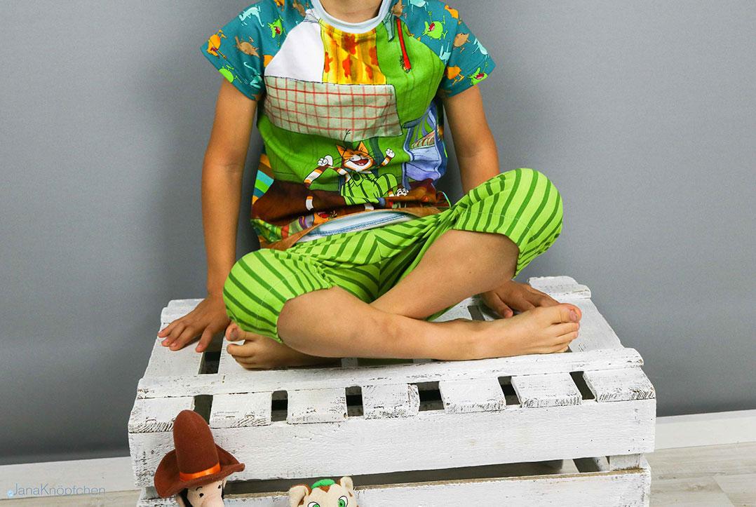 Schlafanzug mit Findus genäht. JanaKnöpfchen - Nähen für Jungs