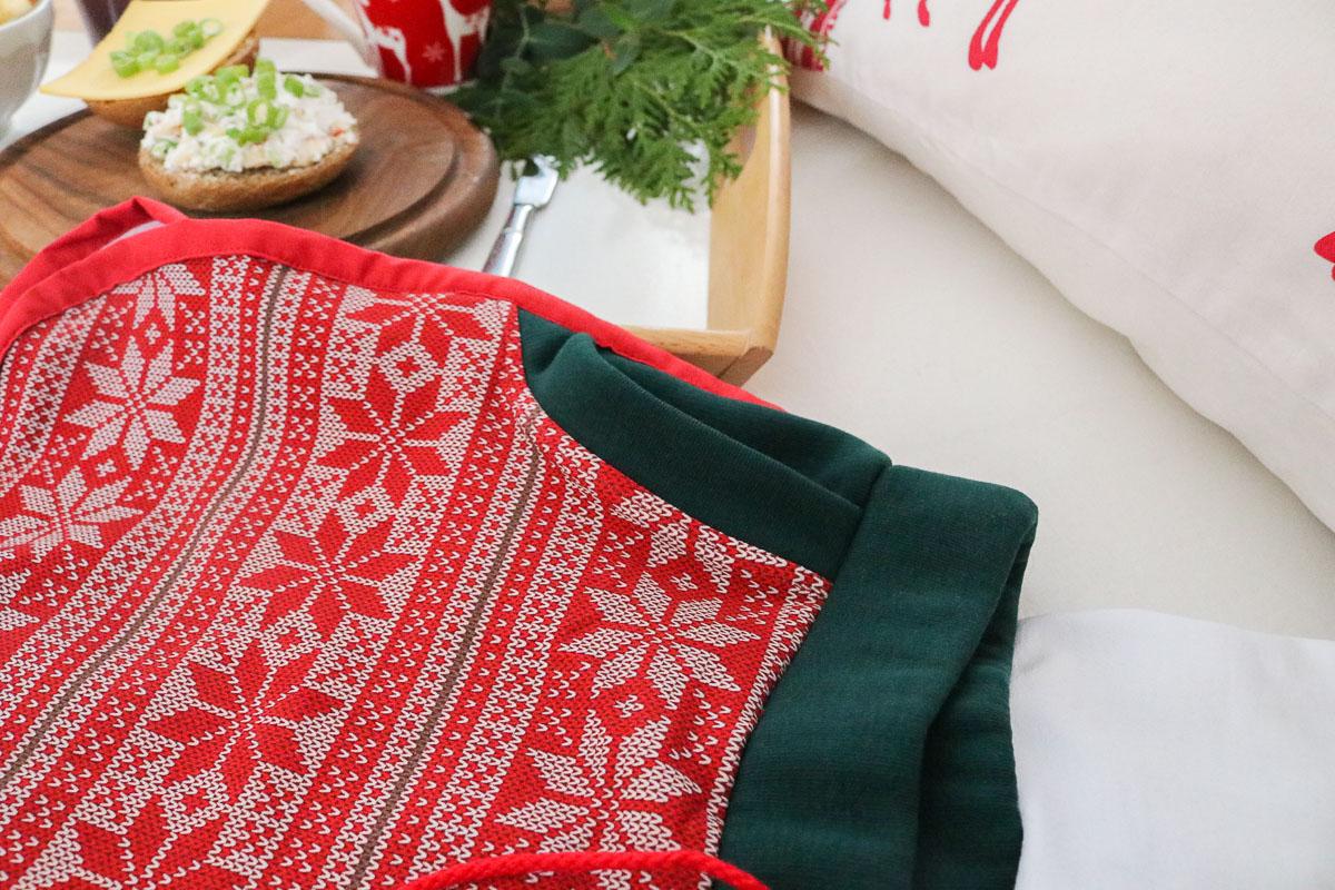 Tasche der selbstgenähten Weihnachtsshorts. JanaKnöpfchen - Nähen für Jungs