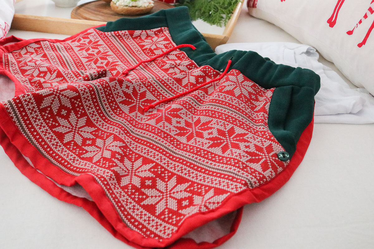 kurzer Weihnachtsschlafanzug selbstgenäht. JanaKnöpfchen - Nähen für Jungs