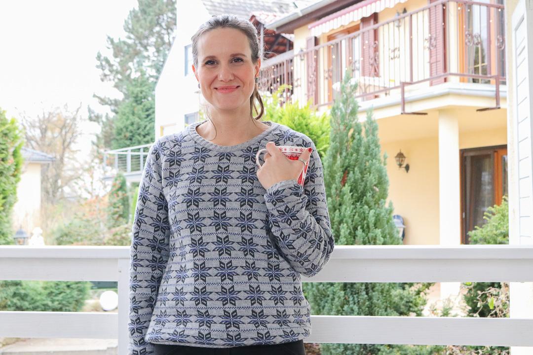 Selbstgenähte Strickpullover mit skandinavischem Muster. JanaKnöpfchen - Nähen für Jungs