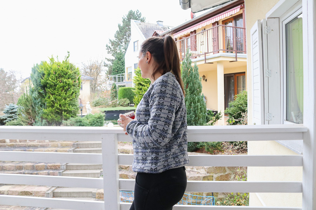 Scandi Star als Sweater vernäht. JanaKnöpfchen - Nähen für Jungs