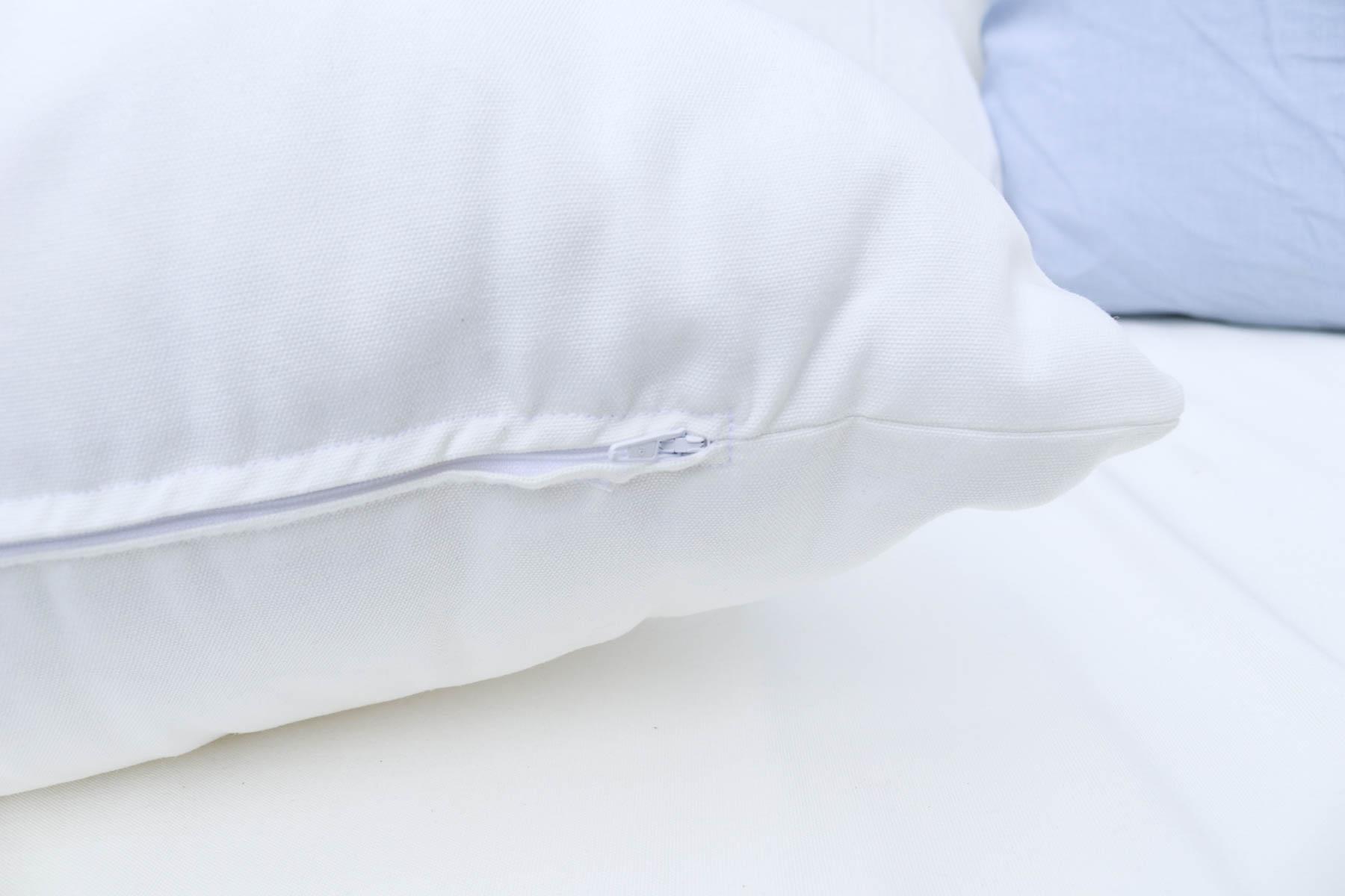 Nahtverdeckter Reißverschluss an Kissenbezug. JanaKnöpfchen - Nähen für Jungs
