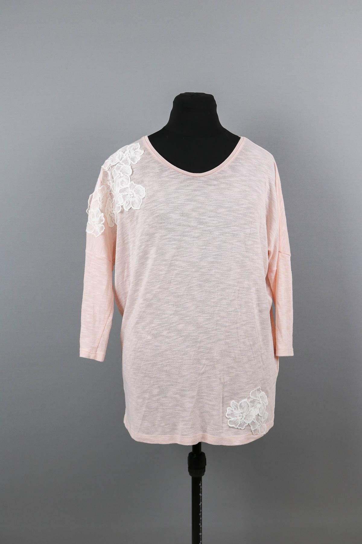 Gekauftes Shirt mit Spitze benähen. JanaKnöpfchen