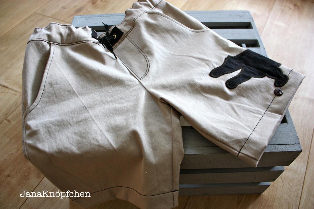 Selbstgenähten Hose aus einer alten Jeans. JanaKnöpfchen - Nähen für Jungs.