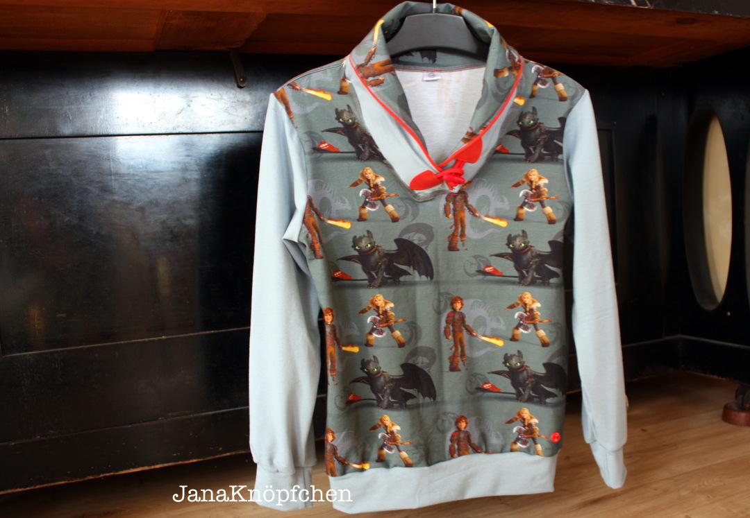 Herzbube Shirt genäht mit Hicks und Ohnezahn für Jungs. JanaKnöpfchen - Nähen für Jungs
